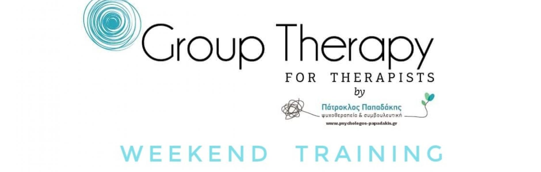 Group Therapy for Therapists: Weekend Training